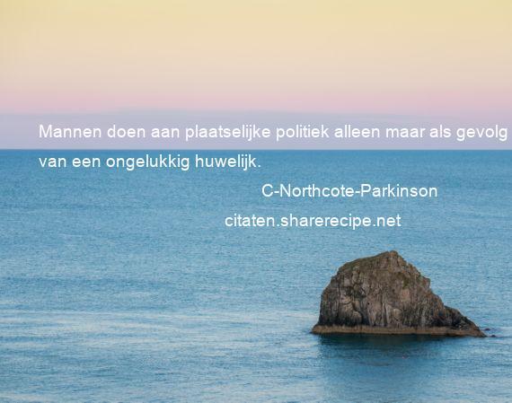 C Northcote Parkinson Mannen Doen Aan Plaatselijke Politiek
