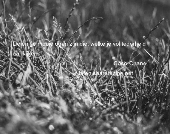 Citaten Coco Chanel : Coco chanel de enige mooie ogen zijn die welke je vol