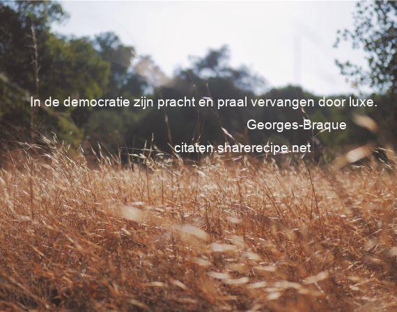 Citaten Over Democratie : Georges braque citaten aforismen citeert de grote