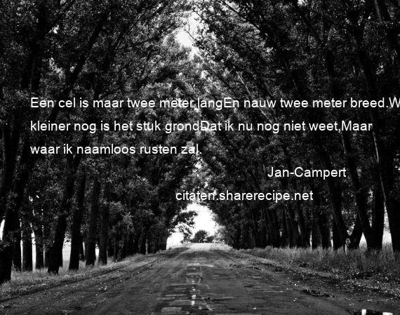 Jan Campert Citaten Aforismen Citeert De Grote Gedachten