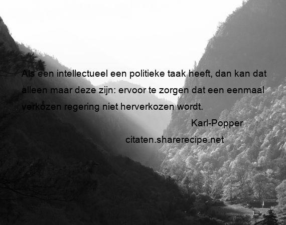 Citaten Politiek Chord : Karl popper citaten aforismen citeert de grote