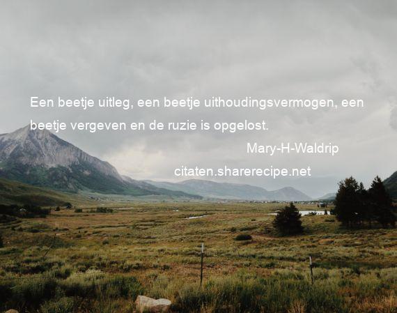 Citaten Met Uitleg : Mary h waldrip een beetje uitleg een beetje uithoudingsvermogen