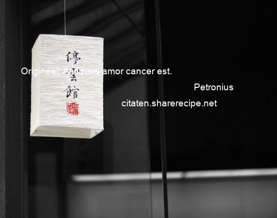 Petronius - Origineel: Antiquus amor cancer est.