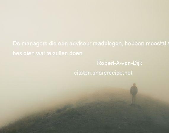 Citaten Voor Managers : Robert a van dijk: de managers die een adviseur raadplegen hebben