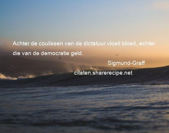 Citaten Democratie Kene : Sigmund graff achter de coulissen van dictatuur vloeit