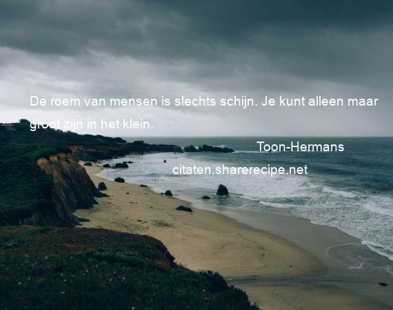 Citaten Over Mensen : Toon hermans de roem van mensen is slechts schijn je