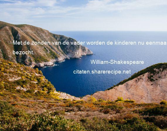 William Shakespeare Met De Zonden Van De Vader Worden De