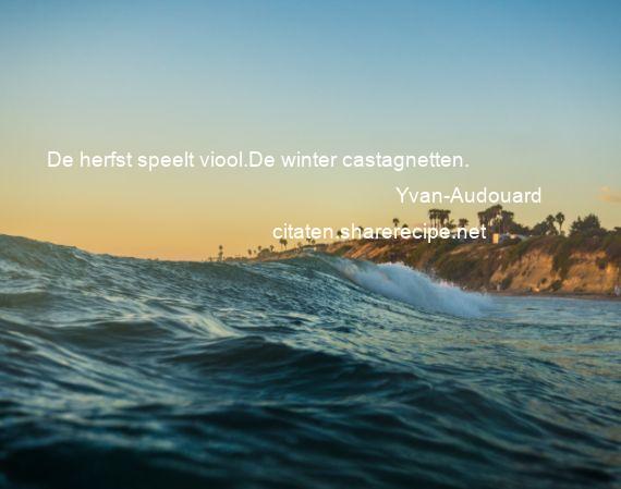 Citaten Over De Winter : Yvan audouard de herfst speelt viool winter castagnetten