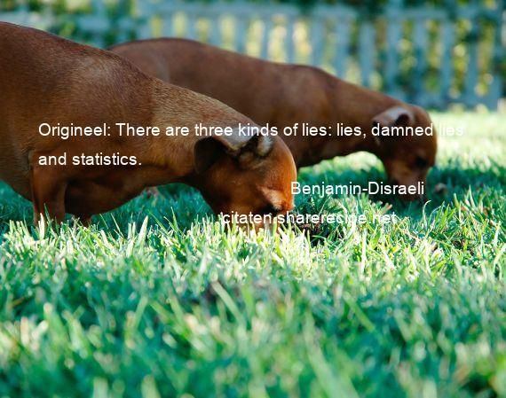 Benjamin-Disraeli - Origineel: There are three kinds of lies: lies, damned lies and statistics.